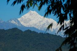 Back in Gangtok from Emchi Gompa another view of Kangchenjunga; remembering the wonderful time I spent in western Sikkim and the foot of the