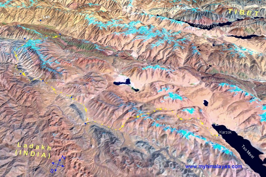 Topographical Map Of China. Topographical map of Ladakh.