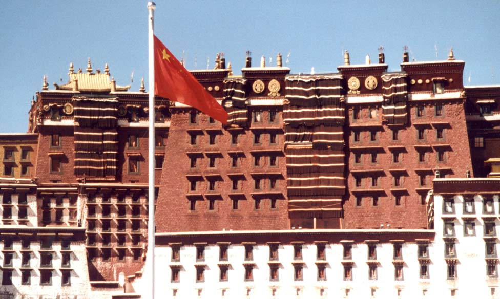 Potala chinese flag